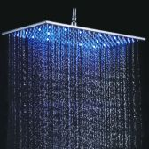Juno 200*400mm Stainless Steel Rectangle Brushed LED Rainfall Shower Head