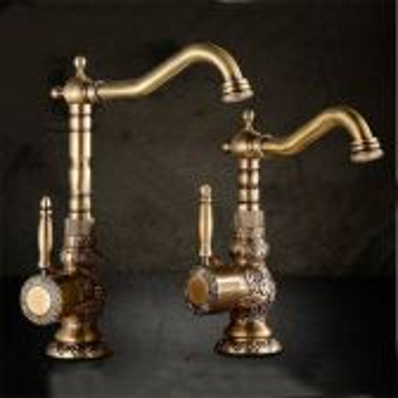 Juno Antique Brass Bathroom Faucet