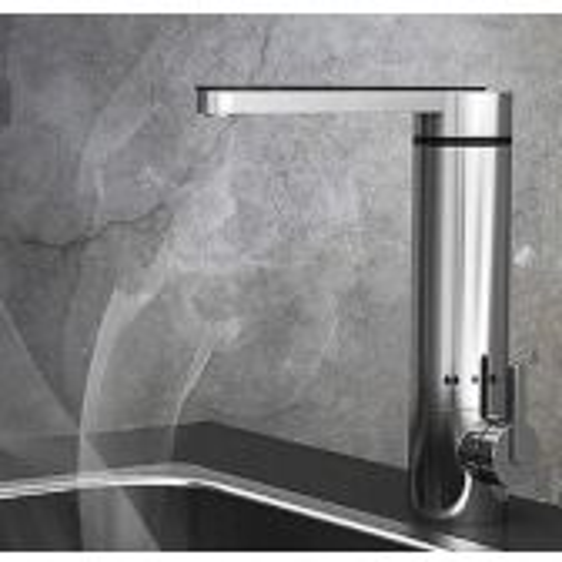 Juno Chrome Deck Mount Electric Single Handle Bathroom Faucet