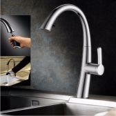 Juno Chrome Kitchen Faucet Mixer Tap With Pull Out Shower