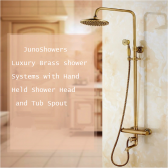 Juno European Brass Shower Faucet With Hand Held Shower