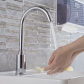 Juno Long Neck Motion Sensor Kitchen and Bathroom Faucet