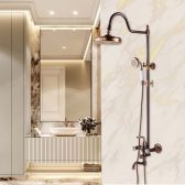 Juno Rebecca Dual Control Antique Rose Gold Shower Faucet