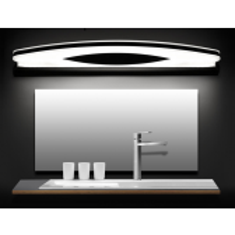 Juno New Stainless Steel Semi Circle Wall Chrome Bathroom Light Fixture LED Mirror Light