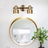 Juno New 2 Head Pendant Wall LED Brushed Gold  Mirror Light