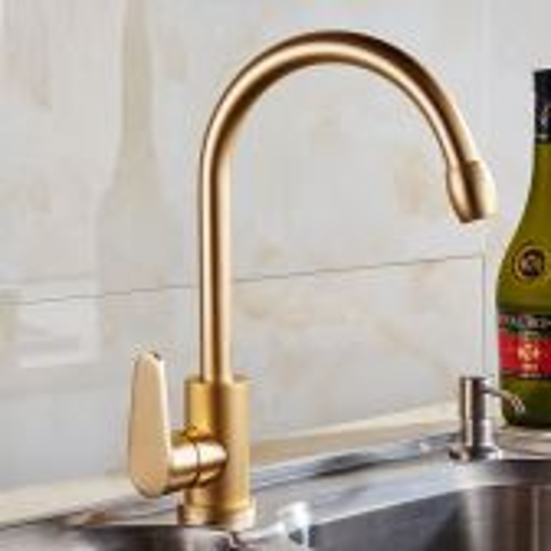 Juno Modern Kitchen Gold Aluminium Faucet Vessel Basin Tap