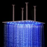 Juno Luxury Oil Rubbed Bronze Color Changing LED Rain Shower Head