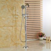 Juno Standing Bathtub Floor Mounted Faucet With Chrome Finish
