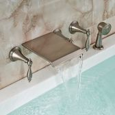 Juno New Waterfall Brushed Nickel Tub Faucet