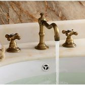 Juno Vintage Antique Style Basin Mixer Tap Vessel Bathroom Sink Faucet
