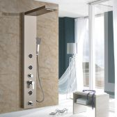 Juno Wall Mounted Bathroom Single Handle Massage Shower System With Spout
