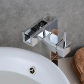Juno Waterfall Spout Chrome Bathroom Sink Faucet