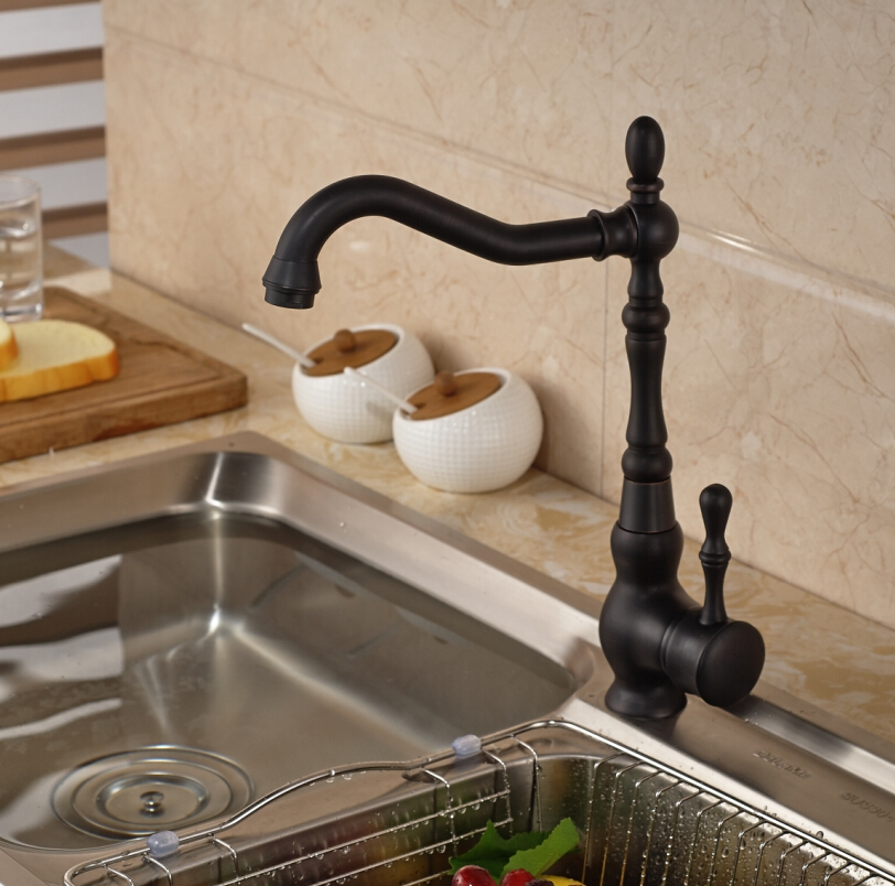 Juno Black Kitchen Faucet