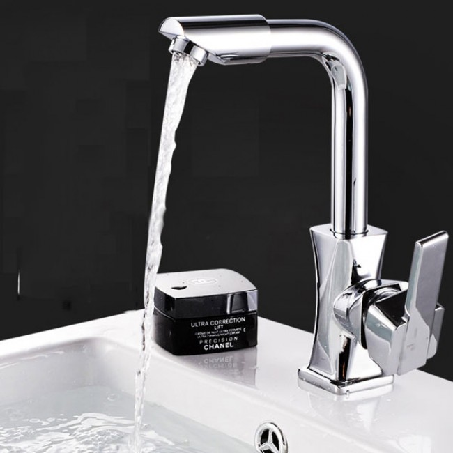 Deck Mounted Thermostatic 360 Rotation Kitchen Tap Faucet