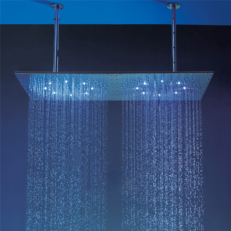 led rain shower head large size