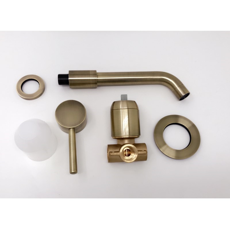 Elisa Antique Bronze Modern Wall-Mount Bathroom Sink Faucet
