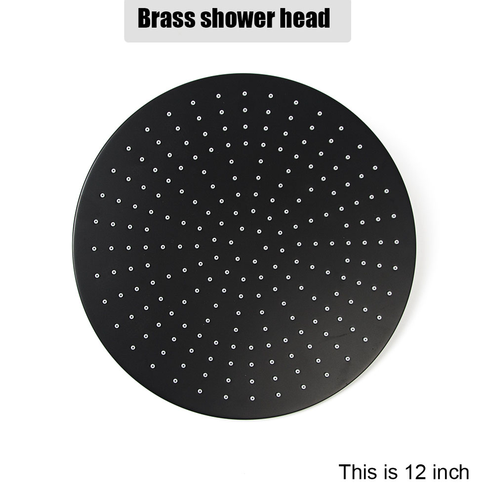 Ella Black Wall Mounted Brass Shower Set Mixer 8/10/12 Inch Shower Head