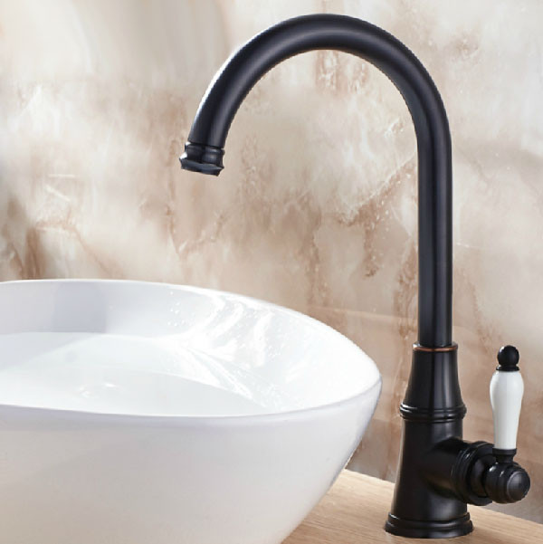 Euro Oil Rubbed Bronze Deck Mount Bathroom Basin Faucet