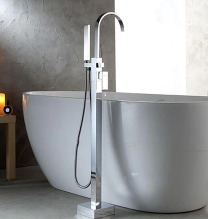 Bathtub Faucet Square Hot and Cold Water Mixer