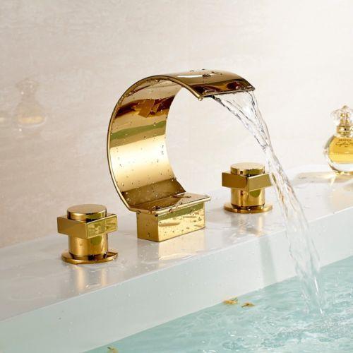 gold vessel sink faucet