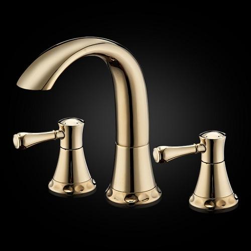 Gold Finish Basin Sink Faucet