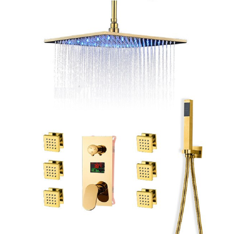 Gold Shower Head Sets