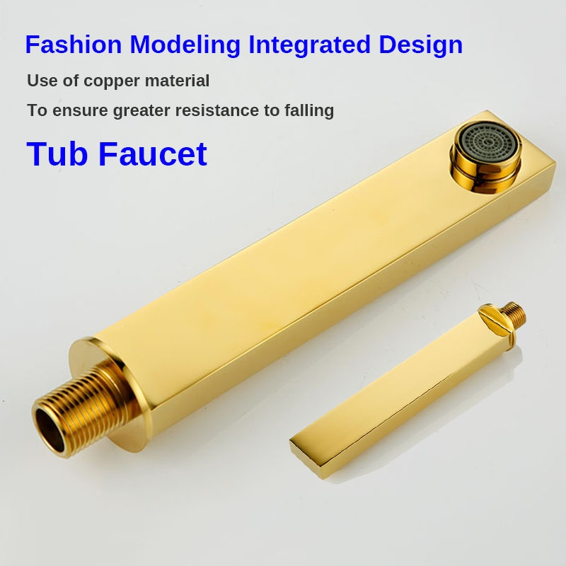 Gold Finish Wall Mounted three LED Function Rain Waterfall Bathroom Faucet Shower Head with Handheld Shower