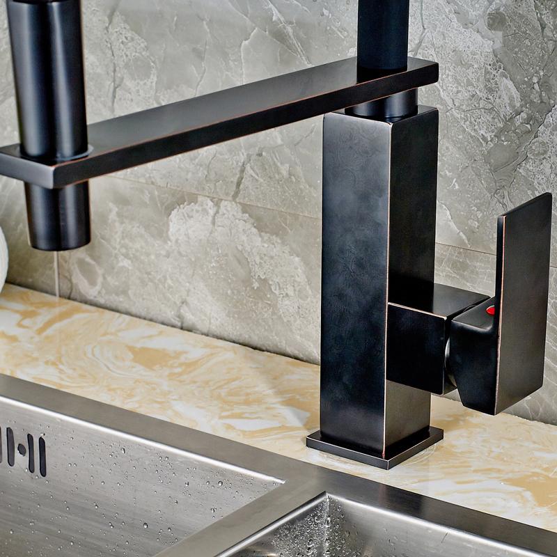 Bronze kitchen sink faucet