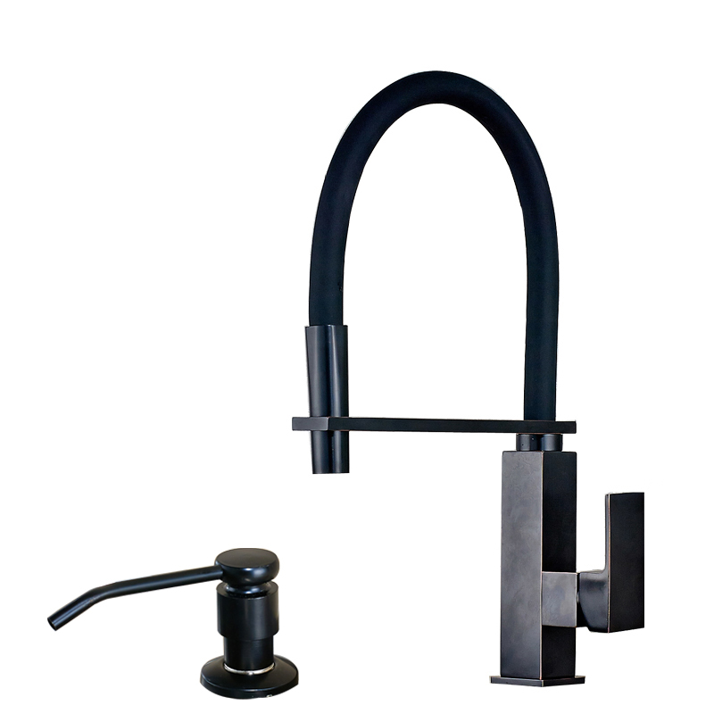 Hammer Kitchen Faucet Oil Rubbed Bronze Finish Squares Body Stand ...