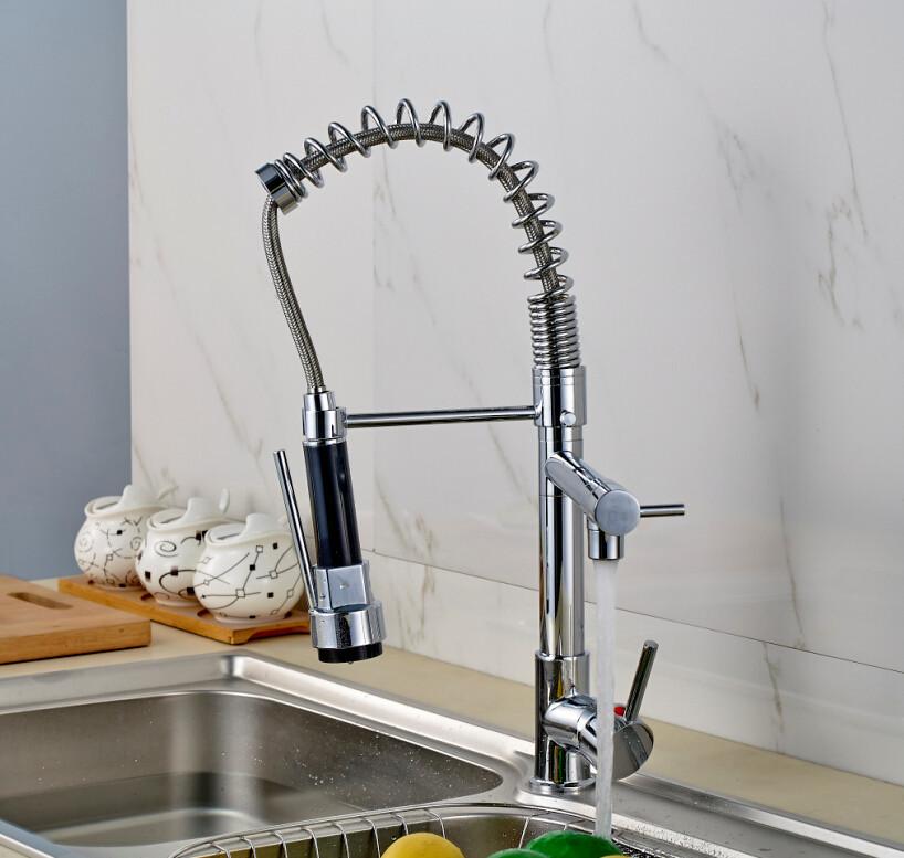 Single Hole Chrome Kitchen Faucet Tap