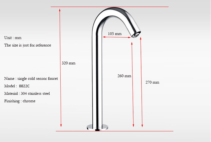 Juno Stainless Steel Infrared Automatic Chrome Finish Sensor Faucet