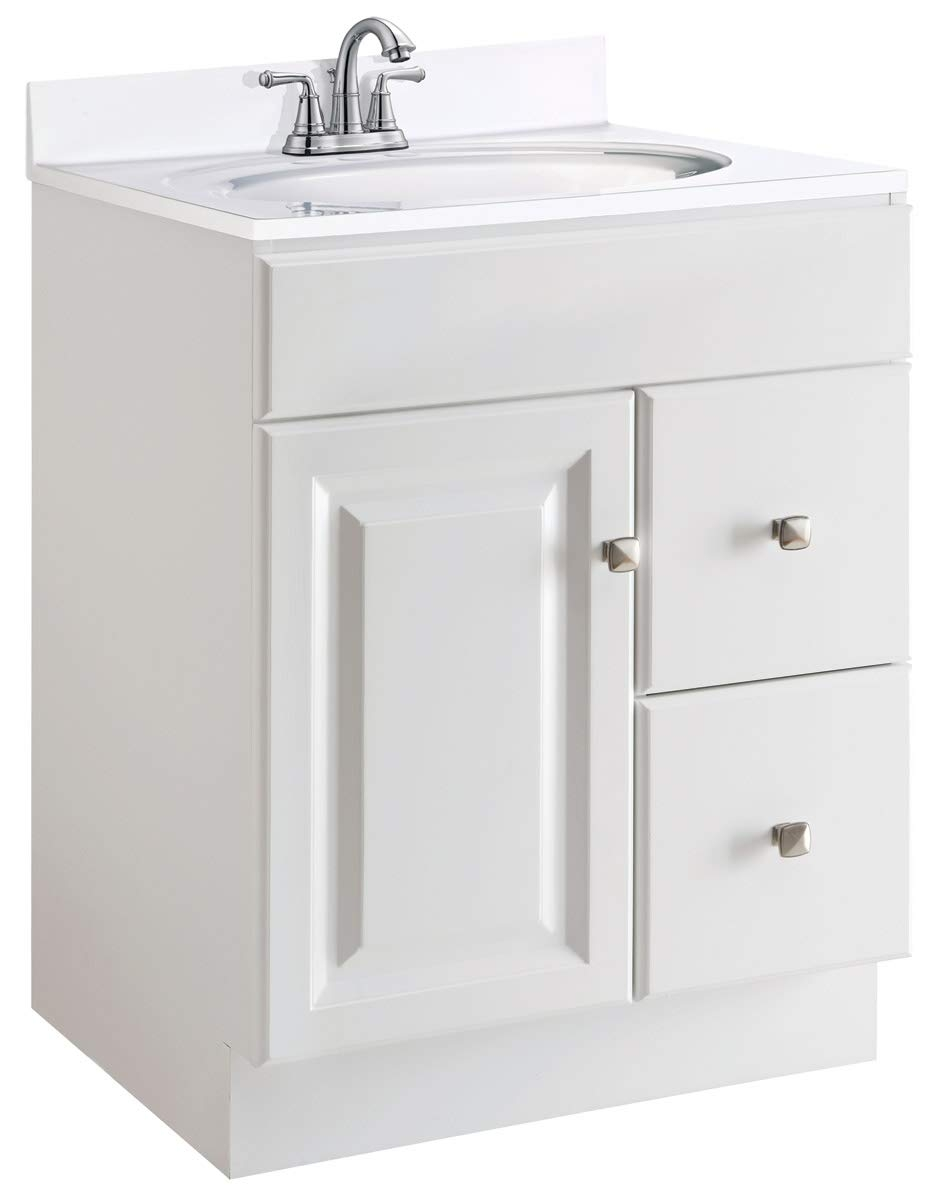 Juno Semi Gloss White Vanity Cabinet
