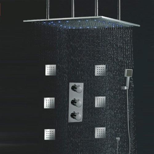 "Toulouse 24""LED Rain Shower Head Thermostatic Shower Valve Set"