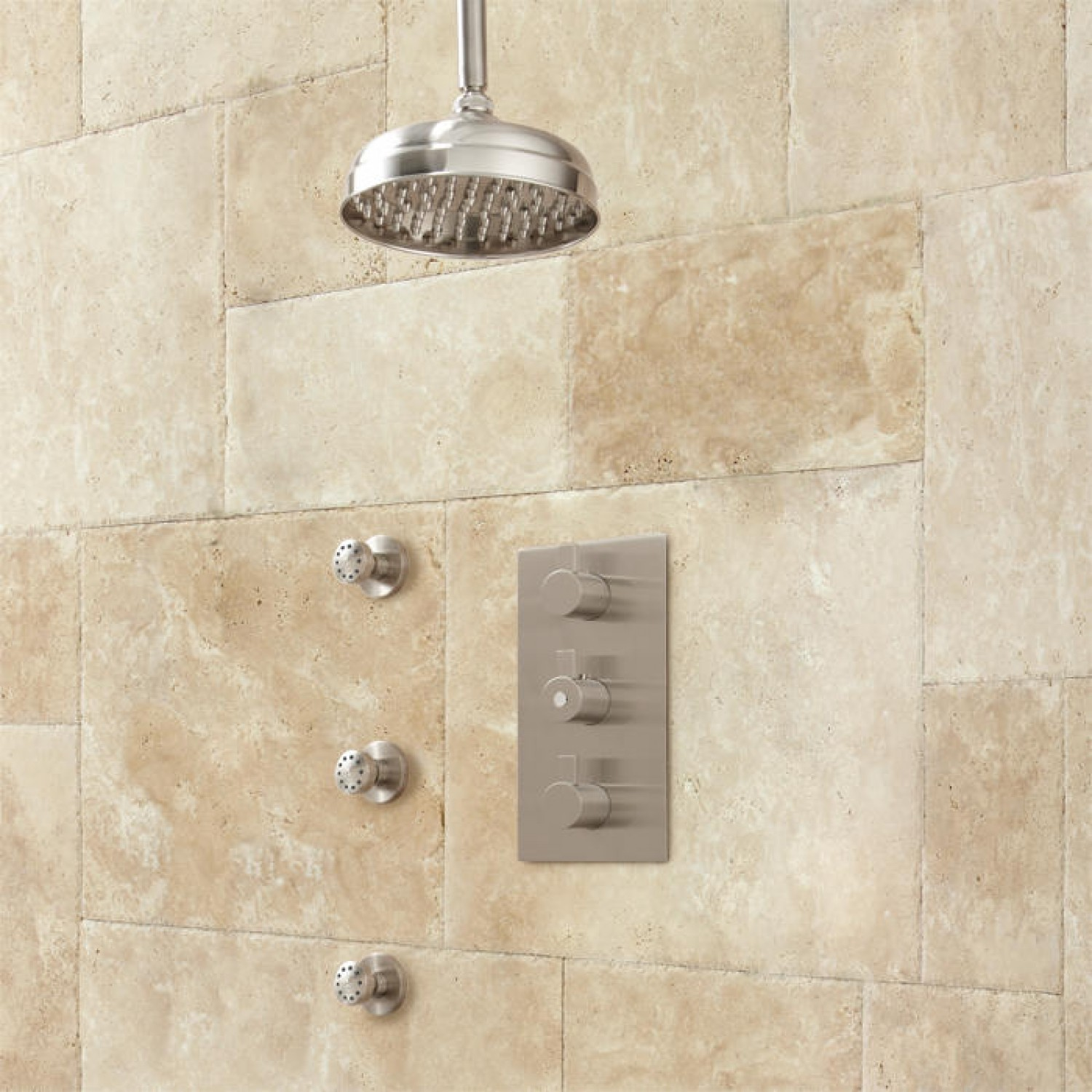 """Toulon 6"""" Rainfall Shower Thermostatic Shower System"""