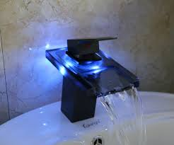 Grenoble 3 LED Color Changing Vanity Sink Waterfall Bathroom Faucet