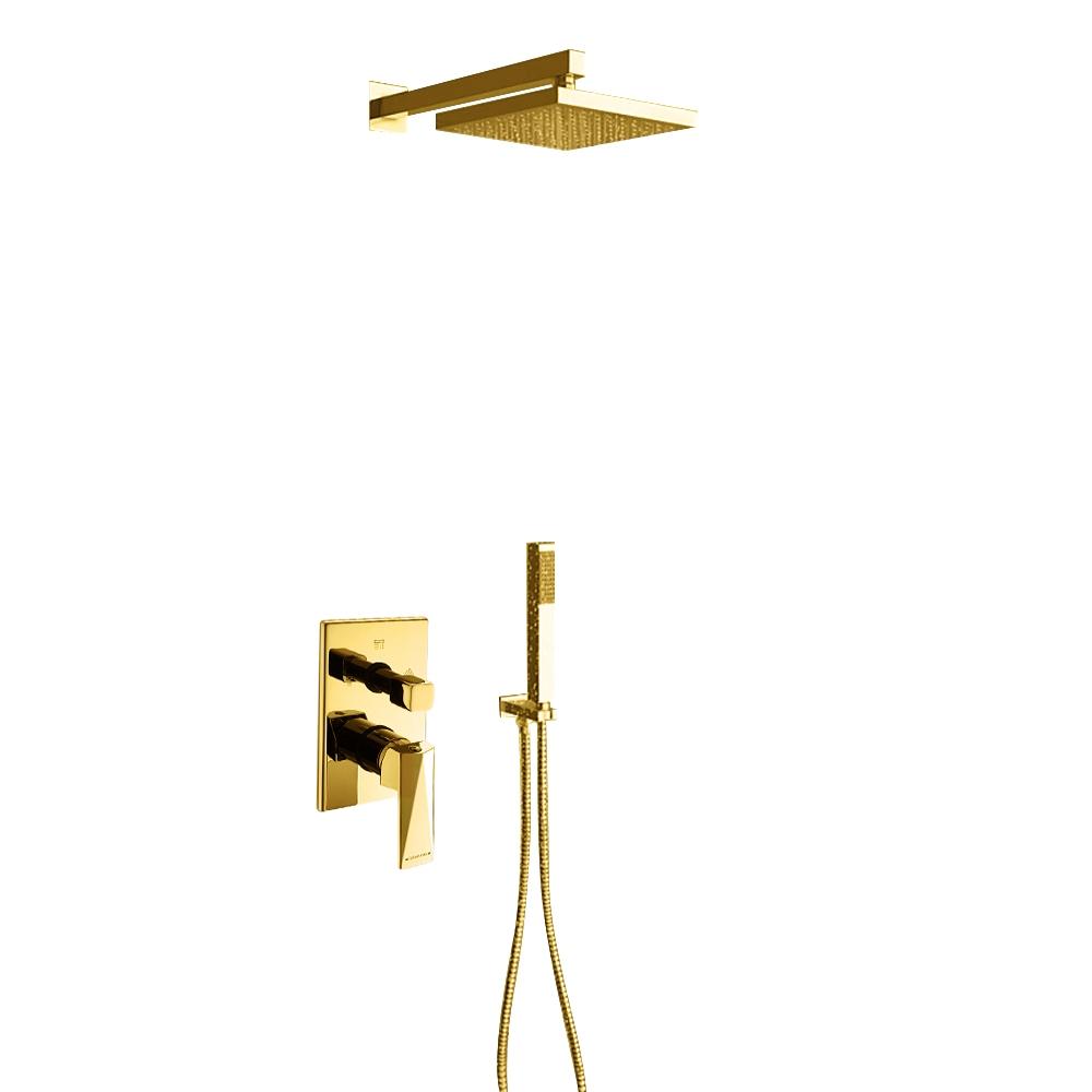 Juno Gold Shower Head Set