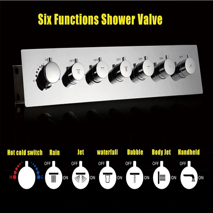 Juno 7 Knob & Touch Screen Shower Set