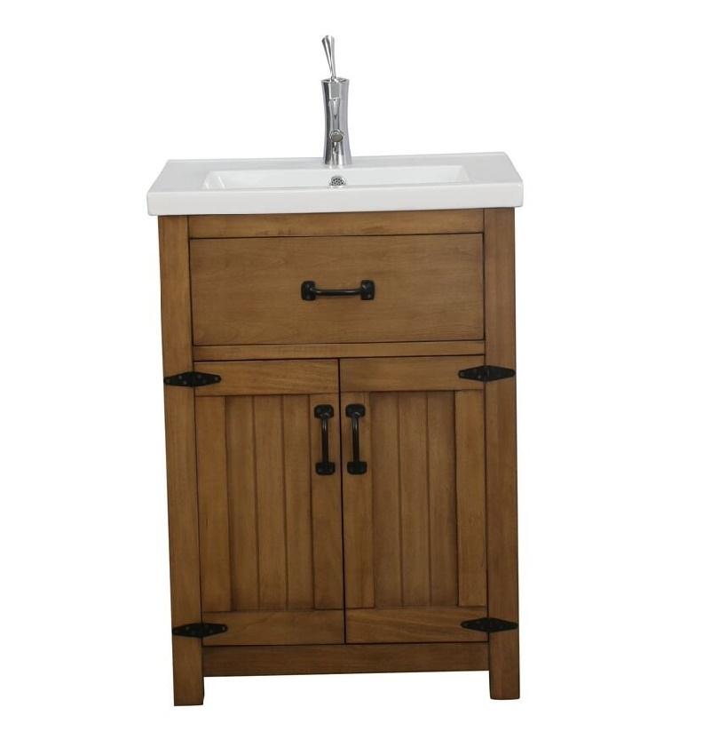 """Juno Modern 24"""" Brown Bathroom Vanity Set"""