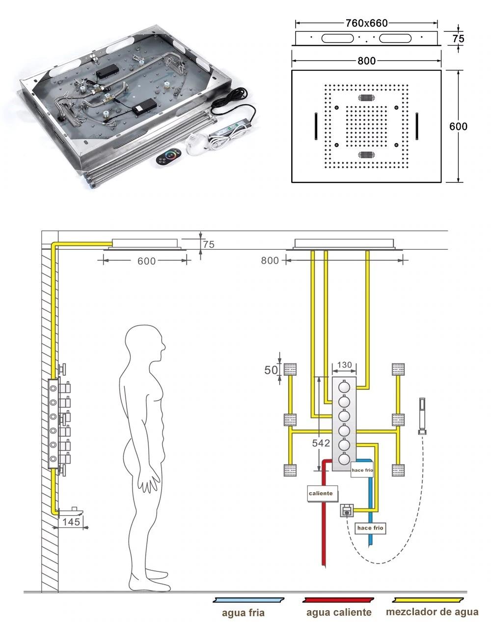 Juno Musical Remote Shower Set