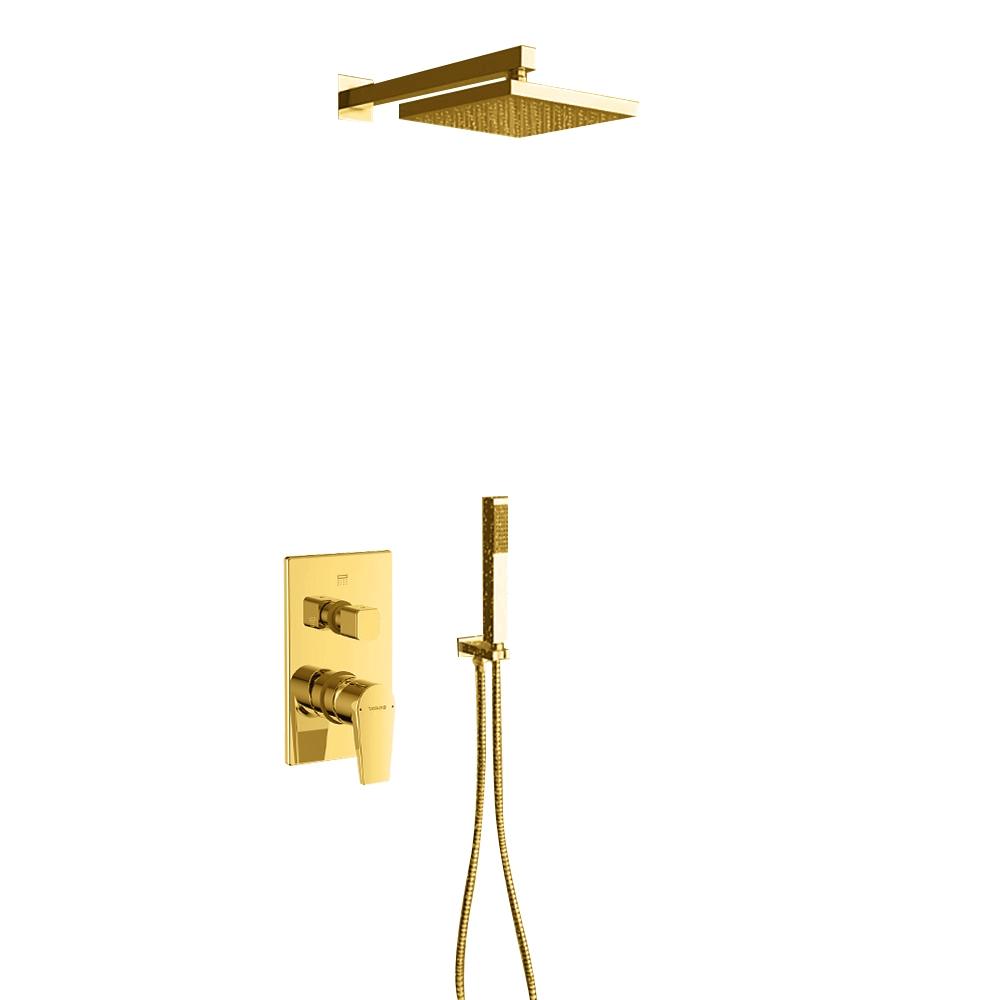 Juno New Gold Shower Head Set