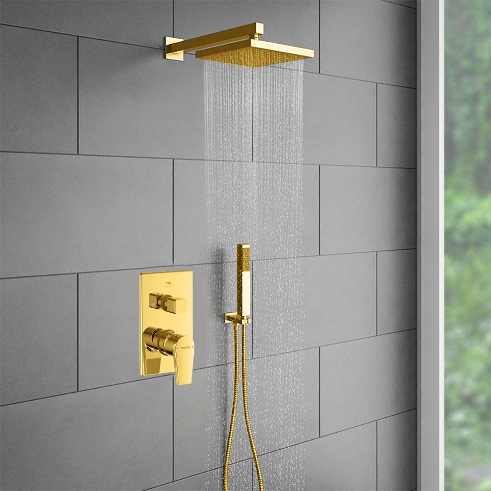 Gold Shower Head Wall Mount
