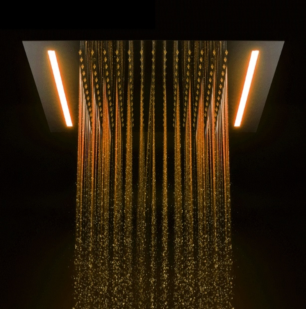 Juno Powered Rain Waterfall Bathroom Ceiling Shower
