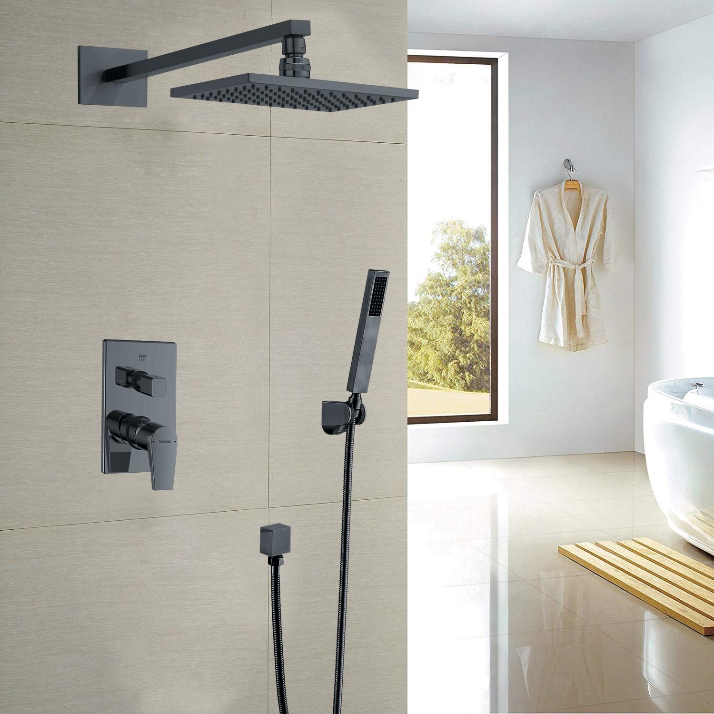 Juno Black Rain Shower System