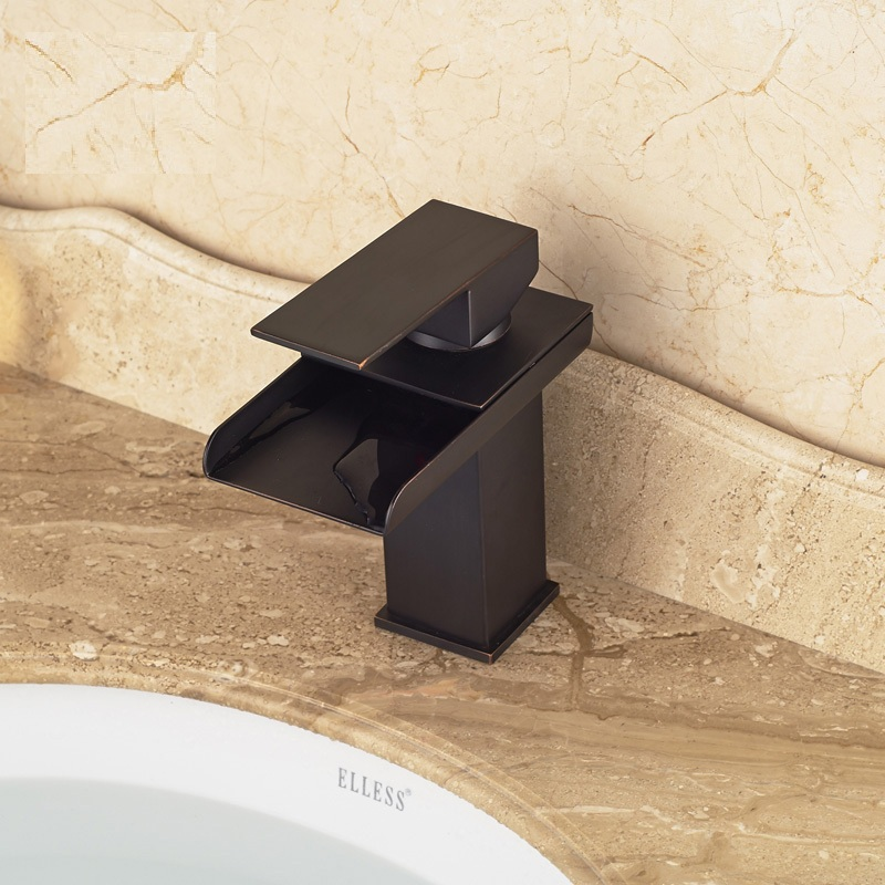 Mendoza Deck Mount Waterfall Bathroom Sink Faucet Mixer Brass Square Mixer Faucets In Oil Rubbed Bronze