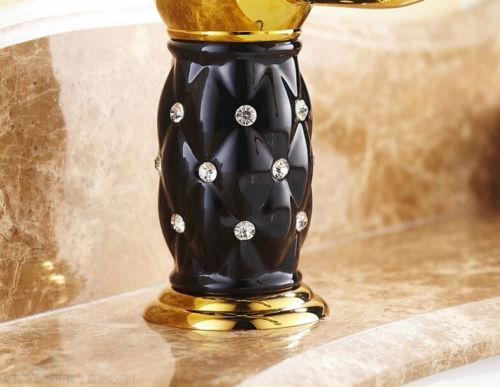 Luxury Gold Finish Bathroom Sink Faucet