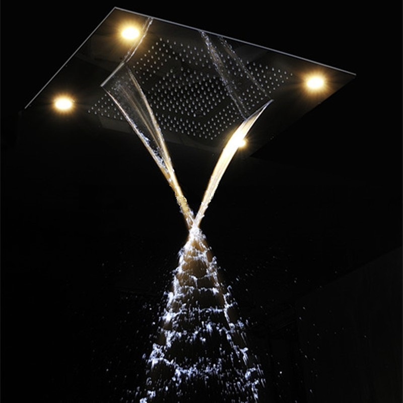 Marina Multi Function Ceiling Mount Shower Head and Hand Shower