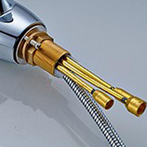 Chrome kitchen sink faucet