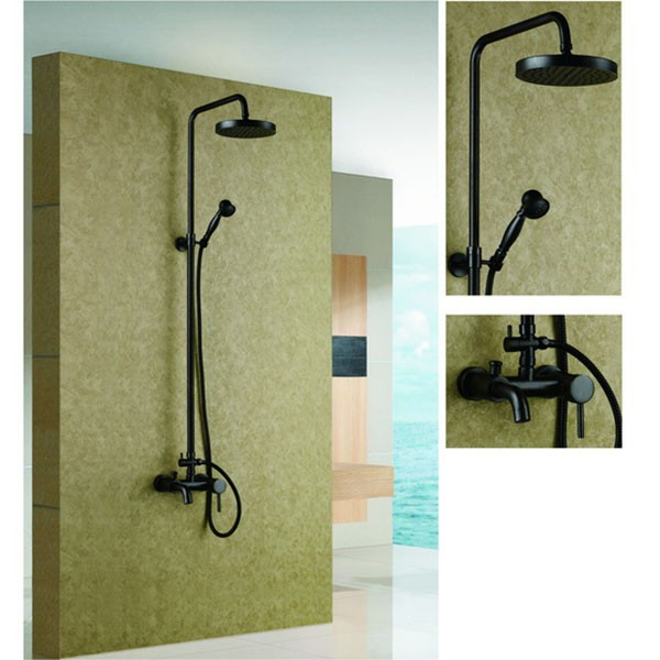 New Design Oil Rubbed Bronze Bathroom Rain Shower Faucet Set