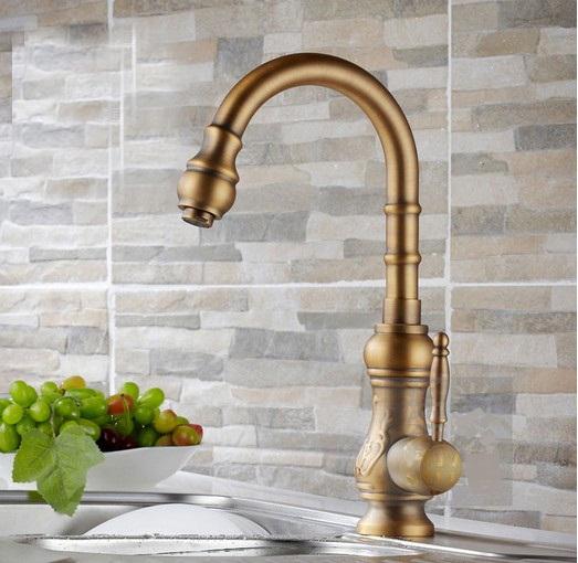 Single Brass Handle Kitchen Faucet