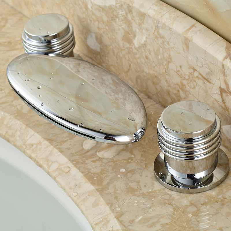 Palermo Deck Mounted LED Light Bathroom Sink Faucet